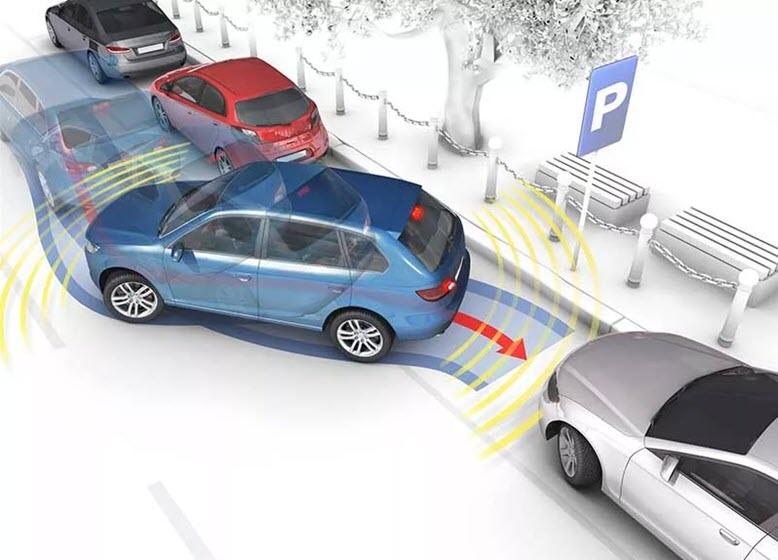 Траектория параллельной парковки к бардюру