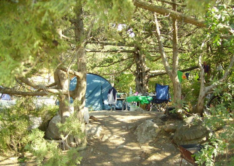 Палатки в Симеизе