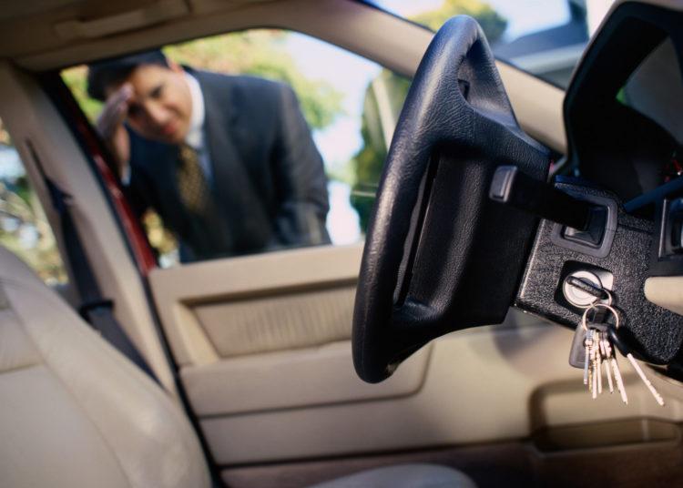 Забытые ключи в машине