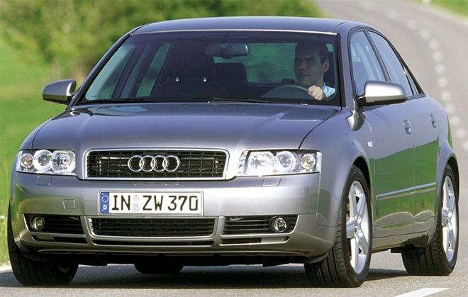 Серебристый Audi A4